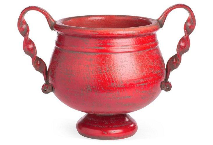 Medici Grand Pot w/ Handles, Red