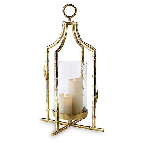 "29"" Baldwin Tall Lantern, Gold"