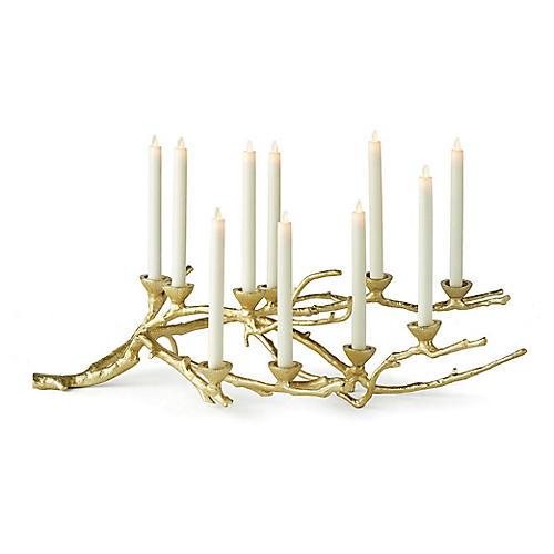 """33"""" Baldwin Candlestick Branch, Gold"""