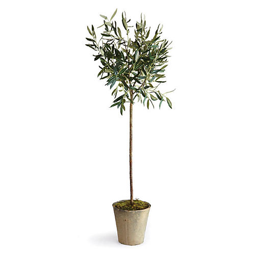 "46"" Olive Faux Tree, Green"