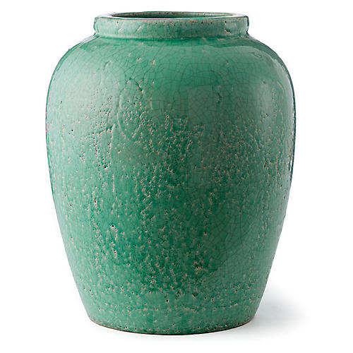 "16"" Amaya Urn, Light Green"