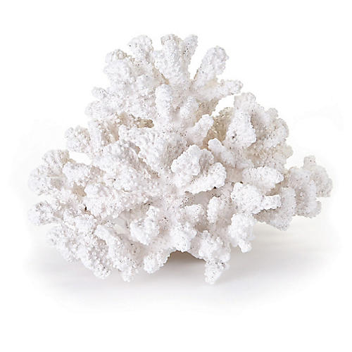 "10"" Finger Accent Coral, White"