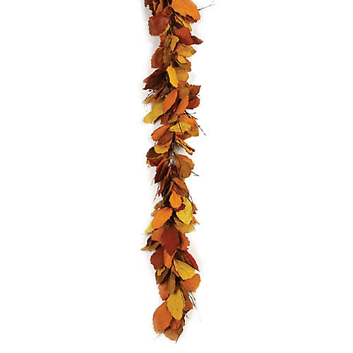 "68"" Autumn Pear Preserved Garland, Multi"