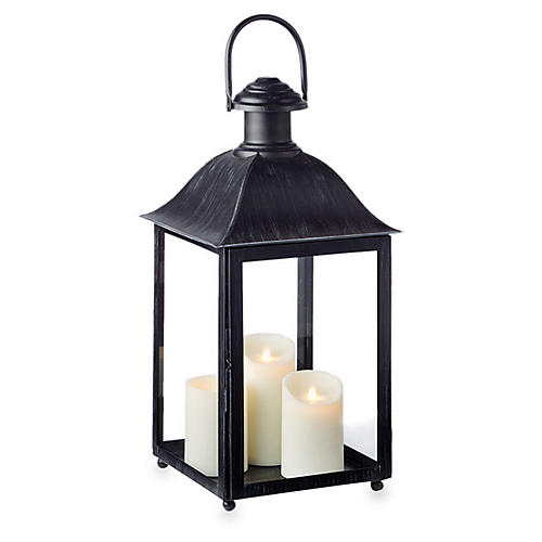 "23"" Coach House Outdoor Lantern, Washed Black"