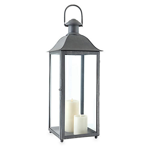 "30"" Coach House Tall Outdoor Lantern, Washed Gray"
