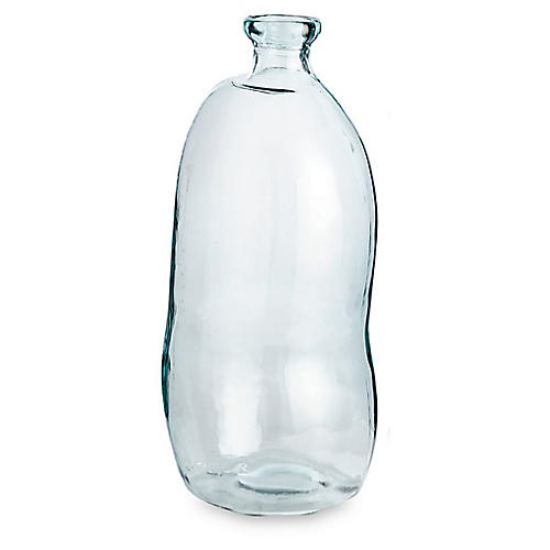 "29"" Marbella Tall Vase, Clear"