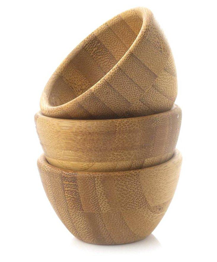 S/3 Bamboo Pinch Bowls