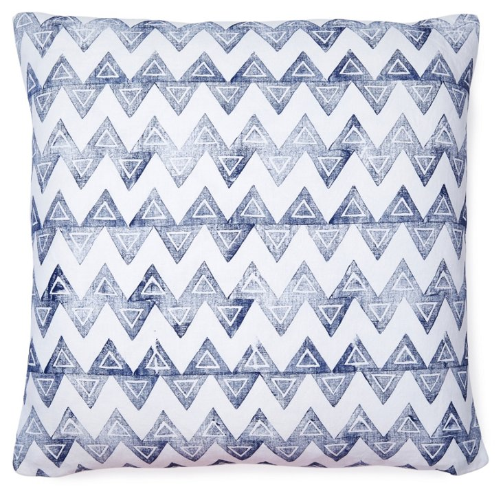 Baxter 20x20 Linen Pillow, Navy