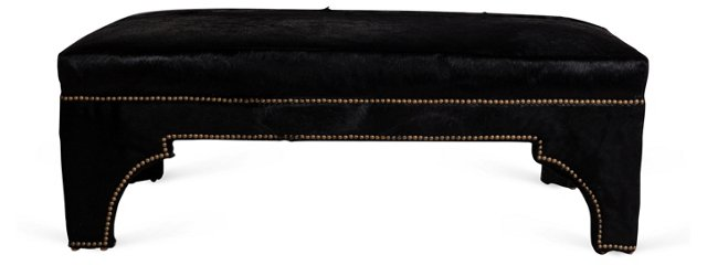 Kyle Irwin Design Black Hide Ottoman