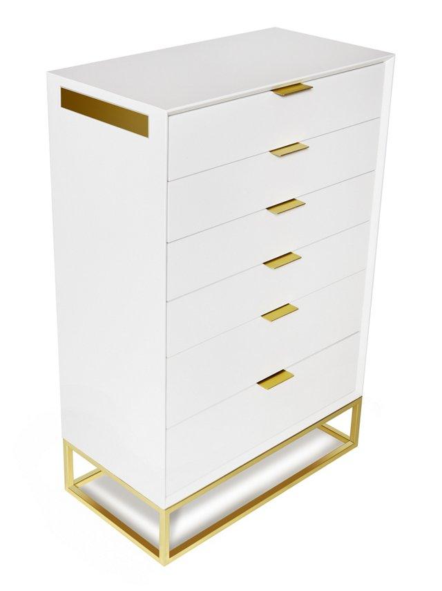 Allen Dresser, White/Gold