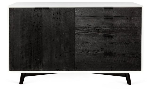 Brooklyn Dresser, White/Black