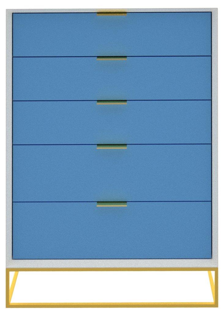 Allen Dresser, White/Blue