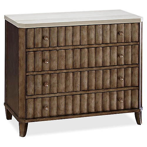"Pacey 38"" Dresser, Stone/Brown"