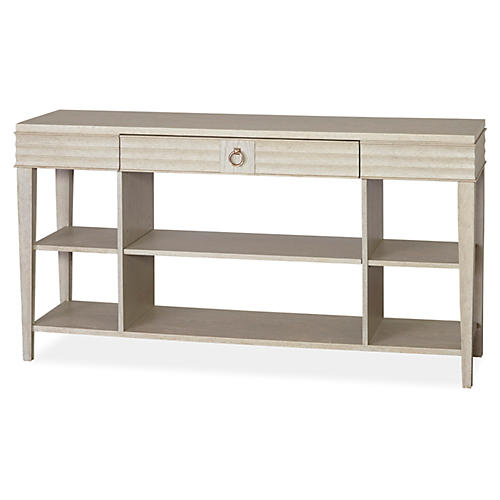 Madelyn 3-Shelf Console, Ash