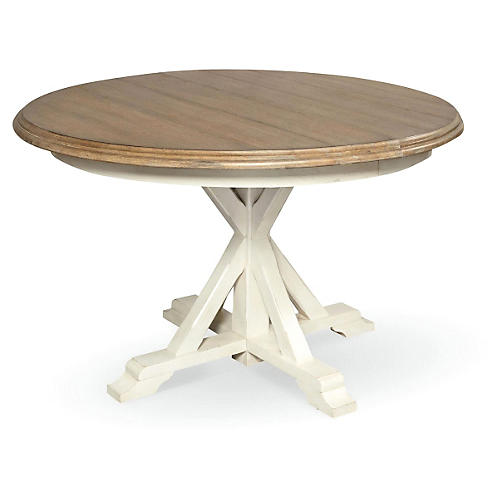 Terrace Round Dining Table, Wheat