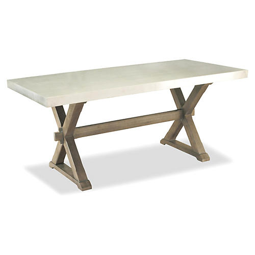 "Hanna 80"" Dining Table, Alabaster"