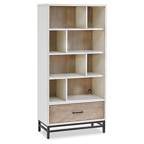 Spender Asymmetrical Bookcase Driftwood