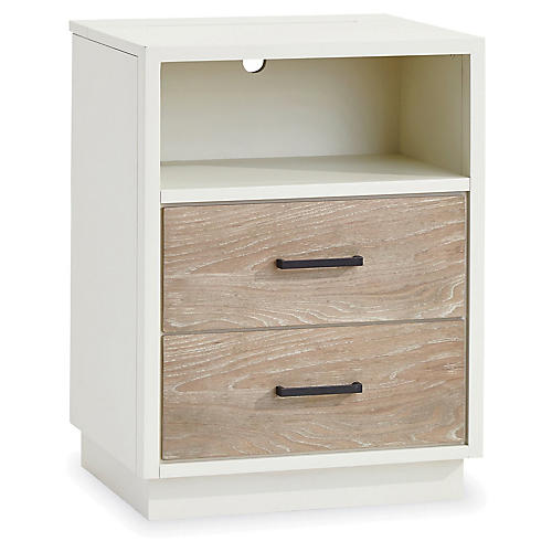Spencer Open Nightstand, Driftwood