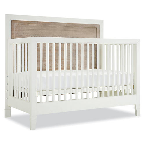 Holly Convertible Crib, Driftwood/White