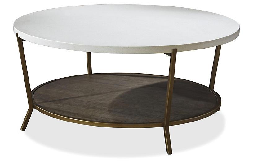 Playlist Coffee Table, Bronze/White Stone