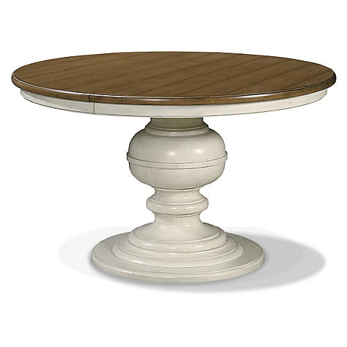 Summer Hill Round Dining Table, Cream