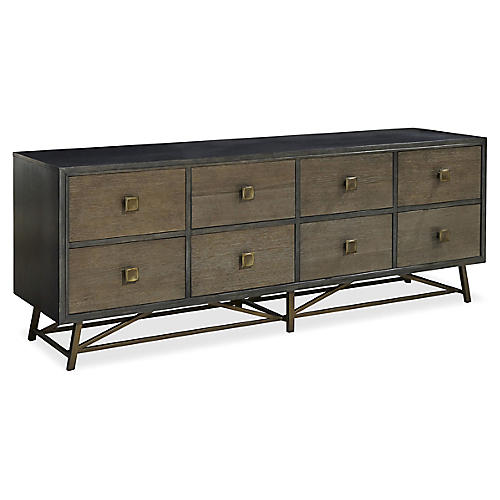Finley Entertainment Console, Gray