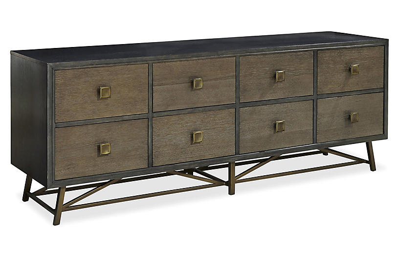 Finley Entertainment Console - Gray
