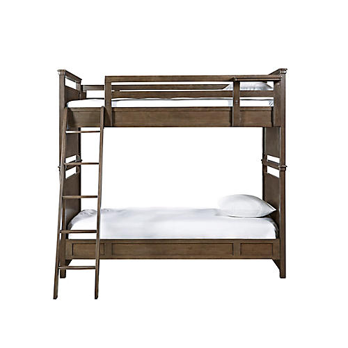 Clara Bunk Bed, Rustic Java