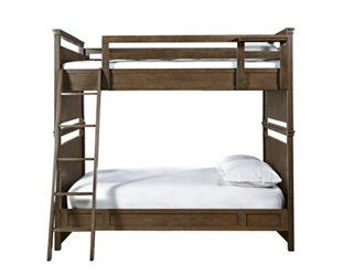 Clara Full Over Full Bunk Bed Natural Bunk Beds Beds Bedroom
