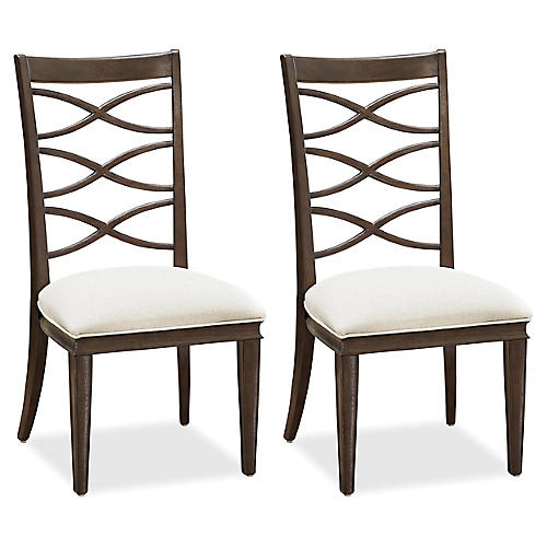 S/2 Anna Side Chairs, Espresso
