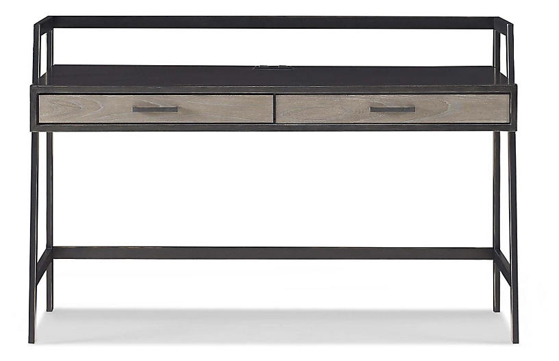 Spencer Desk, Gunmetal