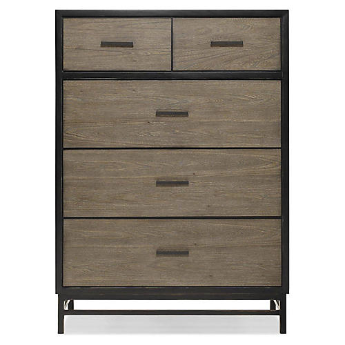 Spencer 5-Drawer Dresser, Gunmetal