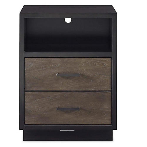 Spencer Open Nightstand, Gunmetal