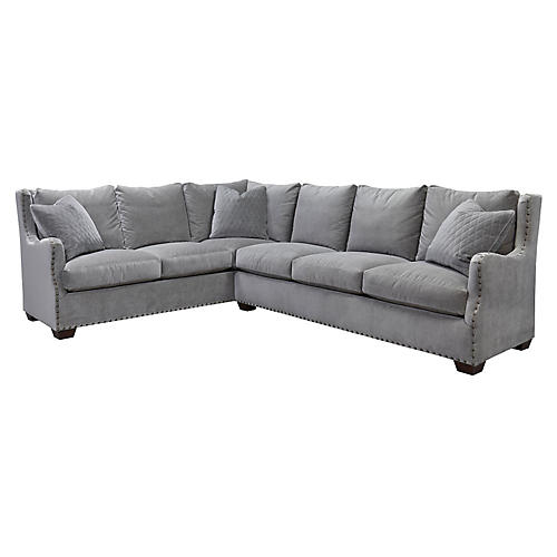 Ellview Right-Facing Sectional, Gray