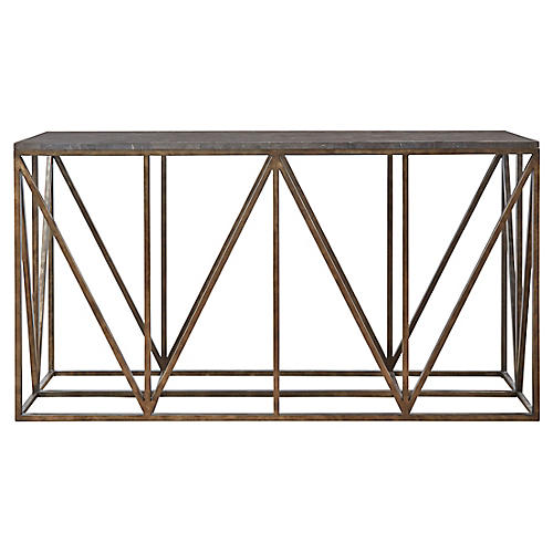 Grant Console, Antiqued Bronze