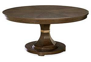 "Anna 64-80"" Round Dining Table, Java"