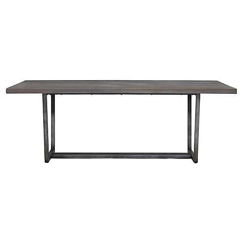"Adaline 82"" Dining Table, Graywash"