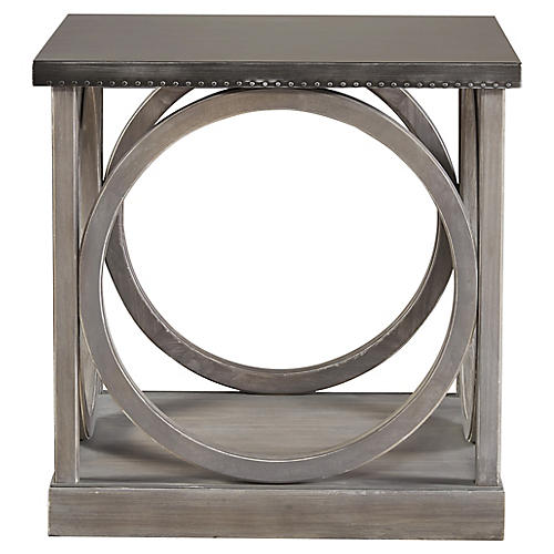Gilmore Side Table, Graywash