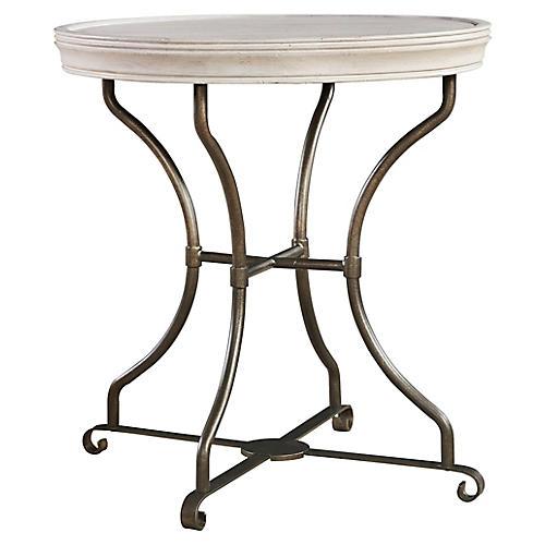 Elan Round Side Table, Whitewash