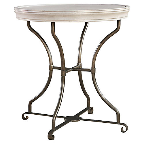 Elan Round Side Table, Whitewash
