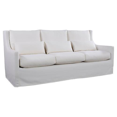 Sloane Sofa, White Crypton