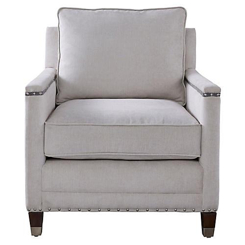Merrill Club Chair, Gray Crypton