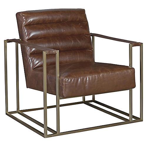 Jensen Accent Chair, Espresso Leather