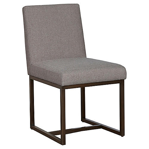 Cooper Side Chair, Silver Gray Crypton