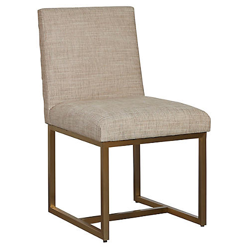 Cooper Side Chair, Beige Crypton