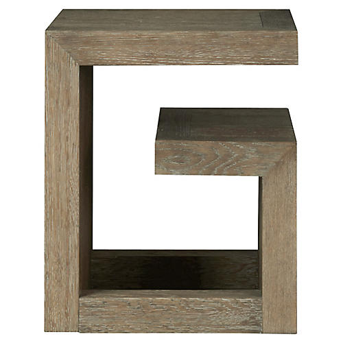 Wilshire Side Table, Graywash