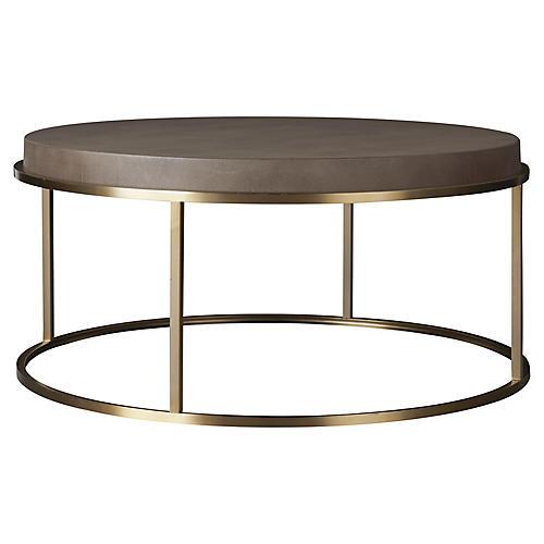 Desmond Round Coffee Table, Gray
