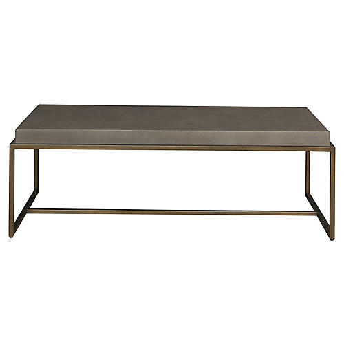 Bennett Coffee Table, Brushed Brass