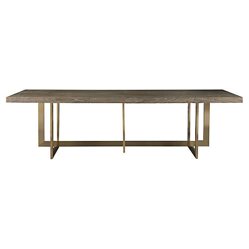 Jamison Dining Table, Graywash