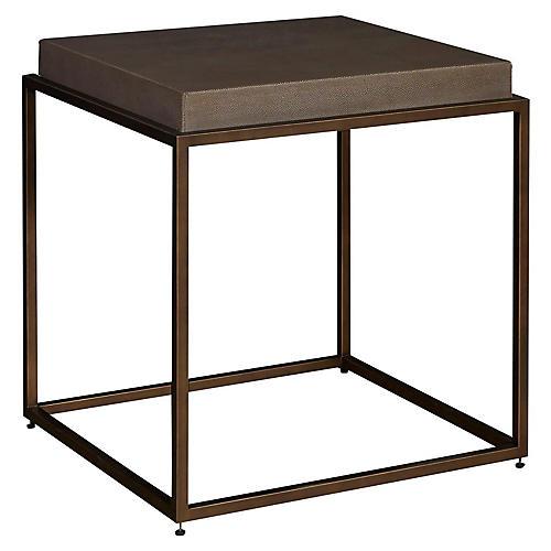 Bennett Side Table, Brushed Brass